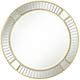 Possini Euro Tevin 33 inch Round Gold Deco Cut Wall Mirror