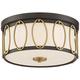 Possini Euro Bridger 13 1/2 inch Wide Bronze and Brass Ceiling Light