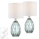Rita Glass Accent Table Lamp Set with Table Top Dimmers