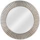 Kenroy Home North Beach Silver 34 inch Round Wall Mirror