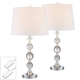 Solange Crystal Table Lamps Set of 2 with Table Top Dimmers