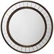 Coltrane Bronze Wood 30 1/2 inch Round Wall Mirror