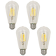 60W Equivalent Clear 7W LED Dimmable Standard ST19 4-Pack