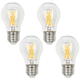 60W Equivalent Clear 5W LED Dimmable Standard A15 4-Pack