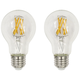 60W Equivalent Clear 7W LED Dimmable E26 3000K A19 2-Pack