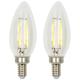 Clear Torpedo 2W E12 Filament Dimmable LED Bulb Set of 2