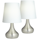 Firefly Nickel Battery Powered LED Table Lamps Set of 2