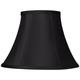 Black Stretch Bell Lamp Shade 6x12x9 (Spider)