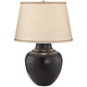 Brighton Hammered Pot Bronze Table Lamp with Table Top Dimmer