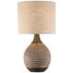 Emma Brown Ceramic Mid-Century Table Lamp with Table Top Dimmer
