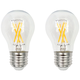 75W Equivalent Clear 8W LED Dimmable Standard A15 2-Pack