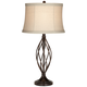 Liam Iron Twist Bronze Table Lamp