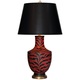 Port 68 Le Tigre Red and Black Lacquer Table Lamp