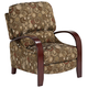 Cooper Crypton Ruby Fabric 3-Way Recliner Chair