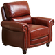 Baron Brown Hand-Rubbed Top-Grain Leather Pushback Recliner