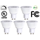 40 Watt Equivalent Bioluz 6.5 Watt LED GU10 MR16 5-Pack