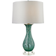 Ocilla Swirl Glass Aqua Swirl Table Lamp