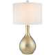 Dimond Soleil Gold Plate Hammered Ceramic Table Lamp