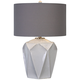 Uttermost Elvilar Glossy White Ceramic Table Lamp