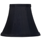 Black Dupioni Silk Bell Lamp Shade 3x6x5 (Clip-On)