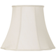 Creme Bell Curve Cut Corner Lamp Shade 11x18x15 (Spider)