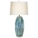 Possini Euro Eneya Blue Ceramic Table Lamp