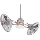 Minka Aire Vintage Gyro Brushed Nickel Chrome Ceiling Fan
