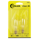 Tesler 40 Watt 2-Pack Blunt Tip Candelabra Light Bulbs