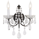 Schonbek Madison Bronze Heritage Crystal Wall Sconce