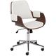 Kellan Snow White Faux Leather Office Chair