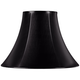 Black Faux Leatherette Bell Shade 7x16x12 (Spider)