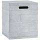 Board Form Light Gray Faux Wood 20-Lb. Propane Tank Cover