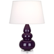 Robert Abbey Amethyst Triple Gourd Ceramic Table Lamp
