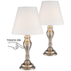 Brass Finish 19 1/4 inch High Touch On-Off Table Lamp Set of 2