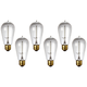 6-Pack 40 Watt Edison Style Medium Base Light Bulbs
