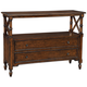 Tamryn 48 inch Wide Brown Cherry 2-Drawer Console Table