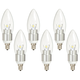 40W Equivalent Clear 5W LED Dimmable Candelabra Bulb 6-Pack