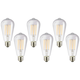 75W Equivalent Clear 8W LED Dimmable Edison Bulb 6-Pack