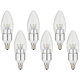 6-Pack 5 Watt Dimmable Candelabra LED Light Bulbs