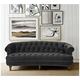 Jennifer Taylor La Rosa Dark Gray Velvet Chesterfield Sofa