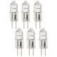 Tesler Clear 20 Watt 12 Volt G4 Bi-Pin Halogen Bulb 6-Pack
