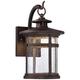 Callaway 14 1/2 inch High Bronze LED Outdoor Wall Light