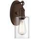 Cloverly 11 3/4 inch High Bronze Wall Sconce