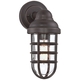 Marlowe 13 1/4 inch High Bronze Metal Cage Outdoor Wall Light