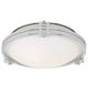 Possini Euro Deco 12 3/4 inch Wide Chrome Ceiling Light