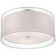 Possini Euro Double Drum 18 inch Wide White Ceiling Light