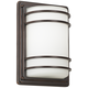 Habitat 11 inch High Bronze and Opal Glass Outdoor Wall Light