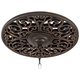 French Scroll 16 inch Wide Bronze Ceiling Medallion