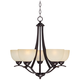 Airington 23 inch Wide Indian Scavo Glass Chandelier