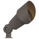 Hooded Low Voltage Bronze 7 1/2 inch High LED Landscape Spotlight